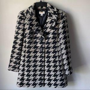 Talbots Houndstooth women's petite coat